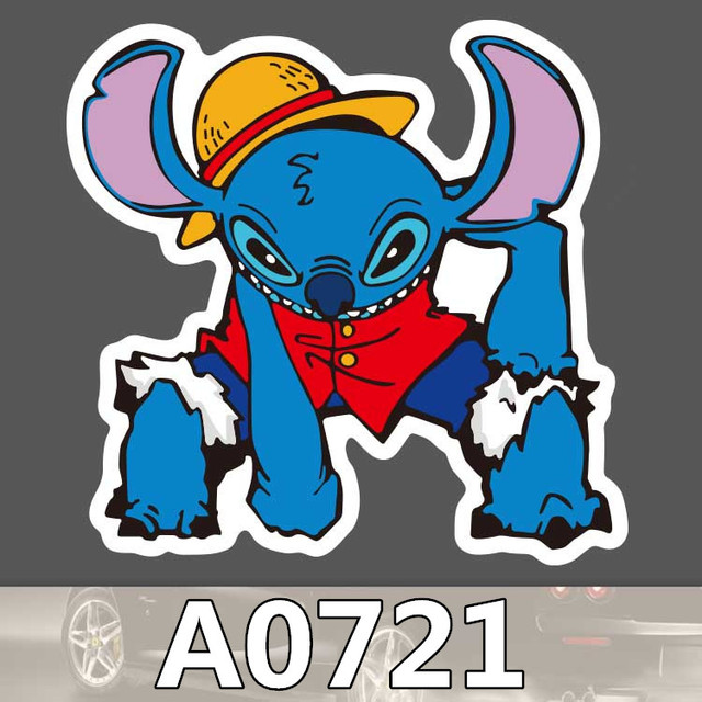Bevle A0721 Lilo Stitch Koper Tahan Air Stiker Keren Graffiti