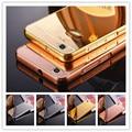 Moda de lujo de oro rosa espejo cajas del teléfono para zte blade a610 alumimum marco de metal shell de la contraportada para zte a610