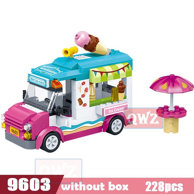 Legoes город девушка друзья большой сад вилла модель строительные блоки кирпич техника Playmobil игрушки для детей Подарки - Цвет: 9603 without box