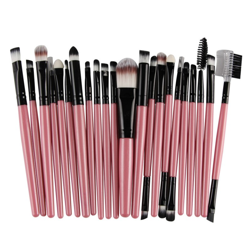 <font><b>22</b></font> Pcs <font><b>Makeup</b></font> <font><b>Brushes</b></font> <font><b>Set</b></font> Powder Blush Foundation Eyebrow Eyeshadow Eyeliner Lip <font><b>Cosmetic</b></font> <font><b>Brush</b></font> Kit Beauty Tools Maquiagem image