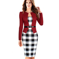 Women Dress Suits Elegant Business Suits Blazer With Skirts Formal Office Suits Work Tunics 3 4