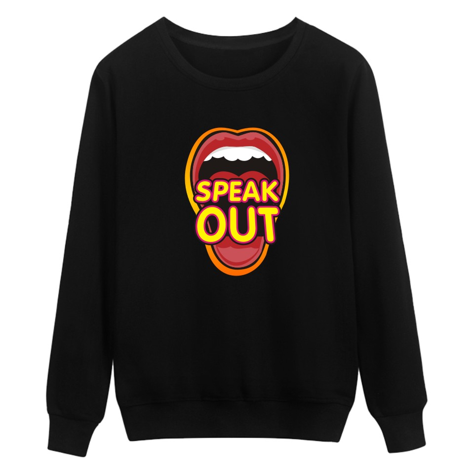 New Arrival Print Hoodies Speak Out Black Men/Women Fashion And Hip Hop Style Cotton Luxury In Plus Size 4XL Funny Sweatshirts