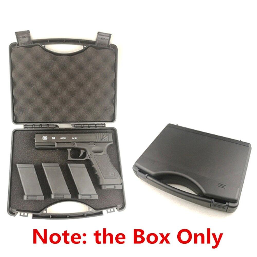 Surwish táctico de agua bala juguete maleta de plástico caja de almacenamiento para Glock G18/G17/M92/1911 y otros pequeño Blaster