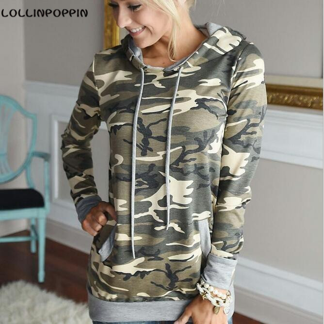 Women Camouflage Hoodies New 2017 Camo Print Hooded Sweatshirts Military  Style Ladies Fashion Hoody Free Shipping - Popular Hooded Camo Sweatshirt-Buy Cheap Hooded Camo Sweatshirt