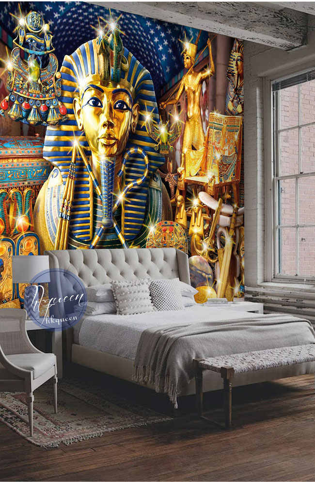detail feedback questions about bacaz ancient egypt pharaoh religionbacaz ancient egypt pharaoh religion wallpaper mural for living room sofa background 3d photo mural wall