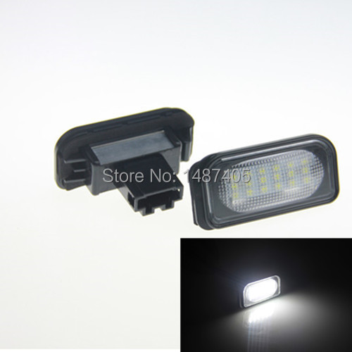 Car led License Plate Light For <font><b>2001</b></font>-2007 4 Doors <font><b>Mercedes</b></font> <font><b>Benz</b></font> C Class W203 Sedan C230 C32 AMG