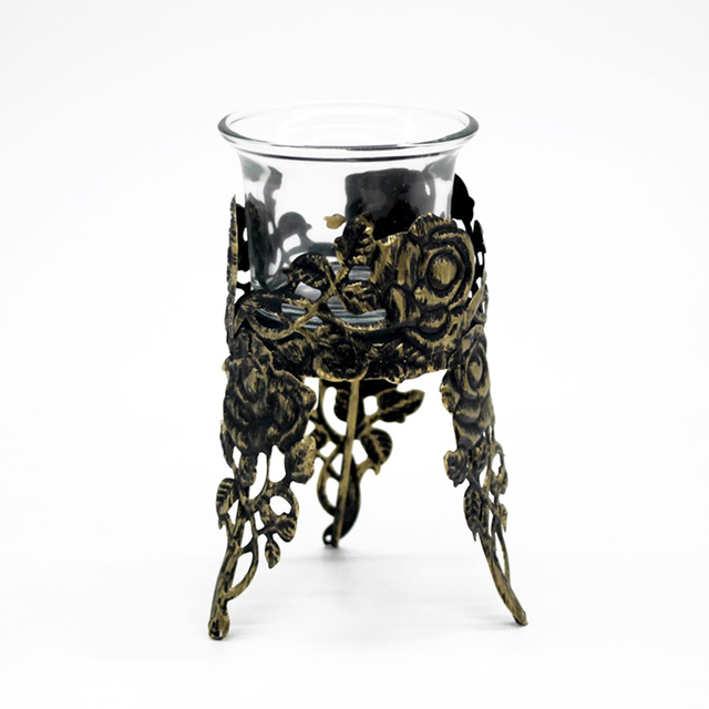 Iron Glass Candle Holder Cup.