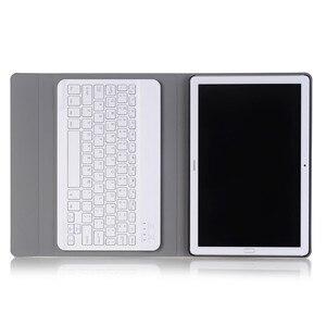 Image 3 - Lüks Klavye Kılıf Huawei MediaPad M5 10 10.8 deri kılıf Standı Bluetooth klavye tablet kılıfı için Huawei M5 Pro 10.8