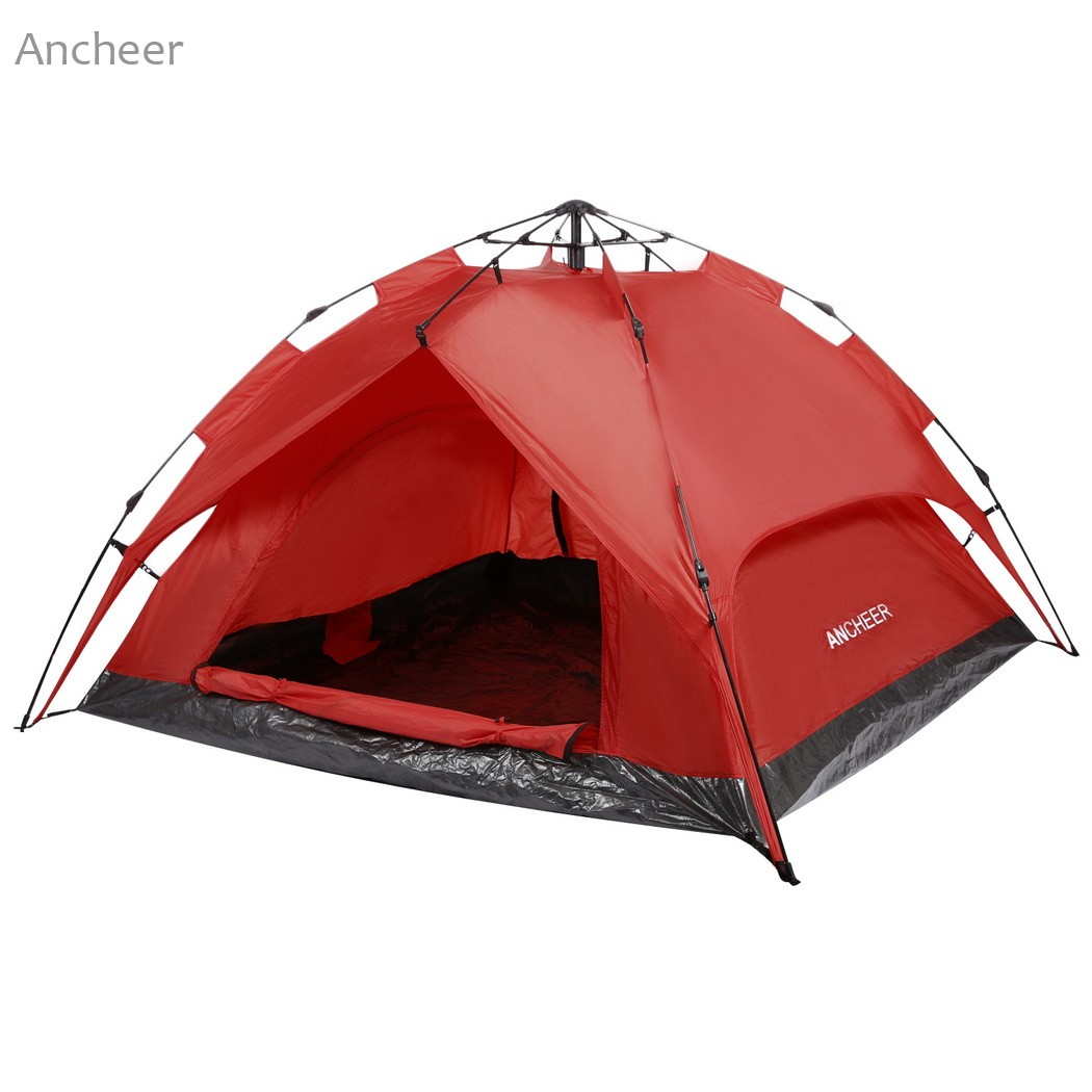 ANCHEER Brand New 3-Person Camping Hiking Tent Automatic Instant Setup Dome Tent Dual Layer with Shelter with carrying bag high quality outdoor 2 person camping tent double layer aluminum rod ultralight tent with snow skirt oneroad windsnow 2 plus