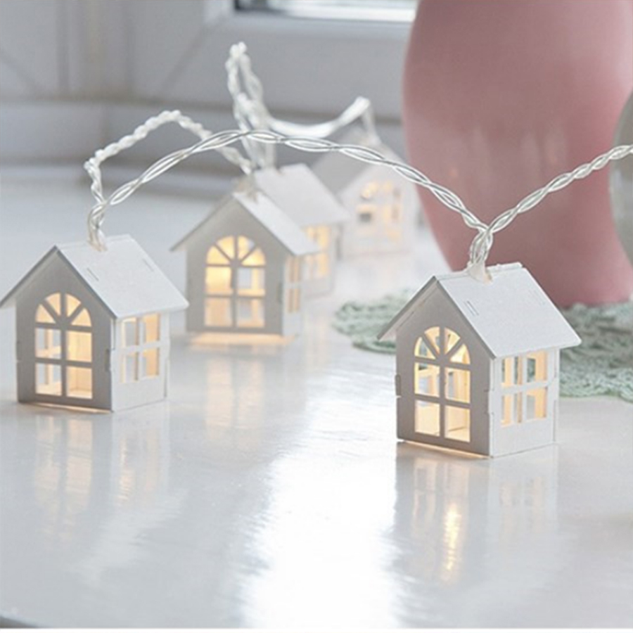 Thrisdar LED Outdoor 3M Nordic House String Christmas Lights Waterproof Garden Party Wedding Holiday Lights