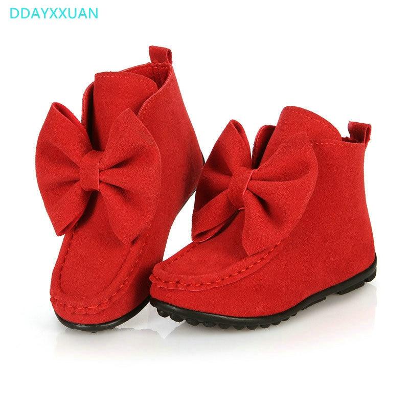 e4818687f Модная детская Обувь для девочек ботинки танцы Марка весна-осень детские  ботинки большая бабочка узел кожаные кроссовки детские туфли принцессы |  Ботинки с ...