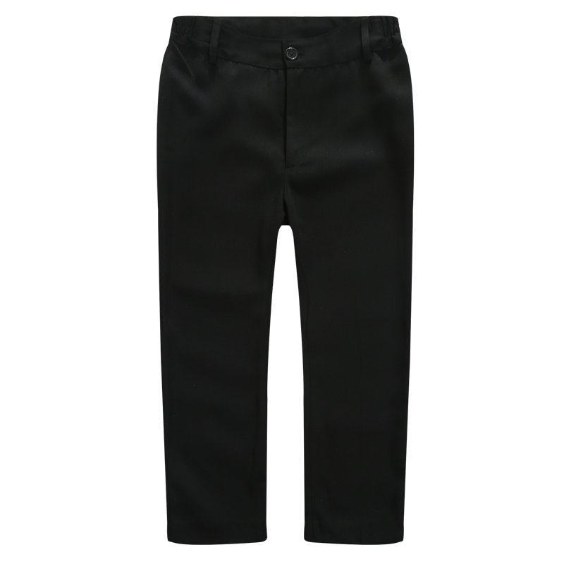 Image 2 - Boys Trousers Chorus Clothing Pure White/Black Students Recital Contest Straight Pants Boys Comfortable Latin Dance TrousersPants   -