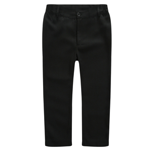 Image 2 - Boys Trousers Chorus Clothing Pure White/Black Students Recital Contest Straight Pants Boys Comfortable Latin Dance Trousers