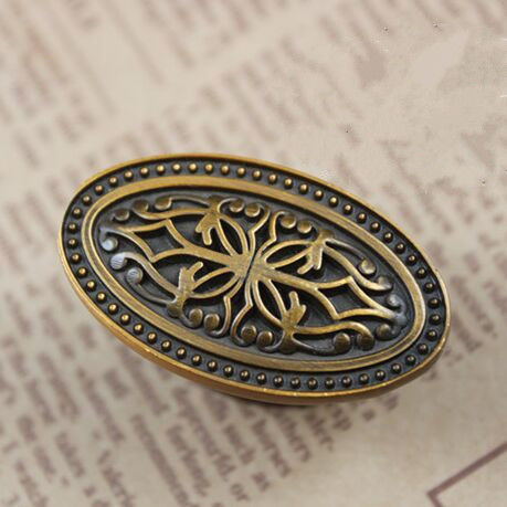 Drawer knob pull handle bronze kitchen cabinet pull knob antique dresser cupboard furniture decoration hardware handle pull knob