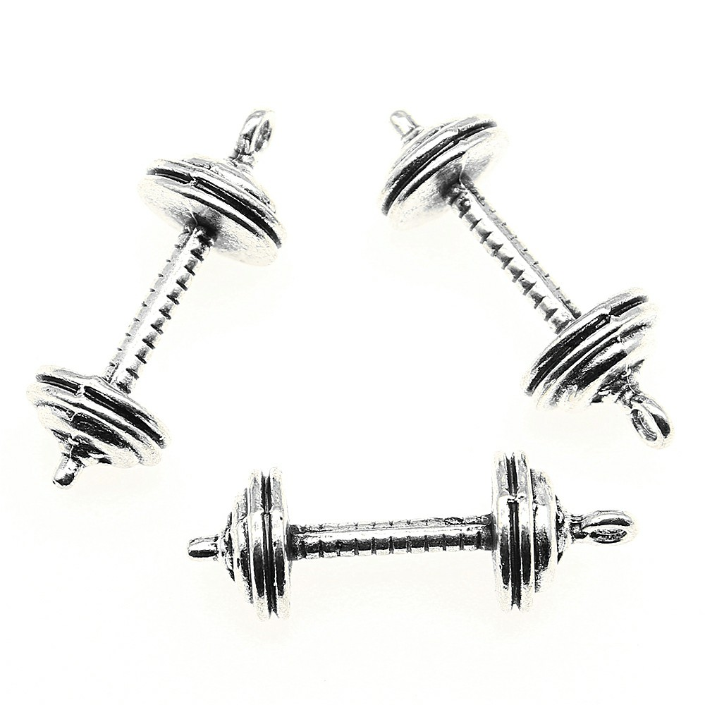 3pcs Charm Barbell Weight Gym Dumbbell Barbell Pendant