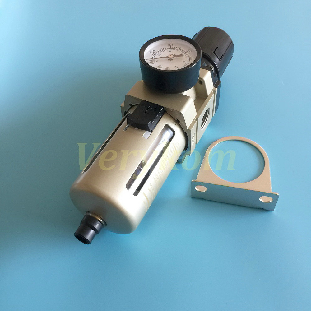 """CLEANING FILTER WITH PRESSURE GAUGE /& DRAIN BRASS BSP SELF 1//2/"""" To 2/"""""""