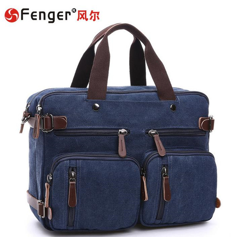 ФОТО 2016 new Arrive Male handbags canvas Motorcycle Shoulder Bags men's Dark blue travel bag mochila zaino
