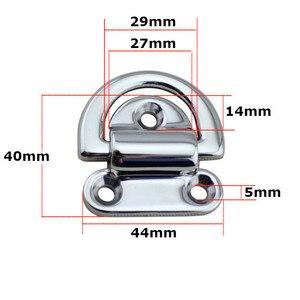 Image 2 - 6 มม.Deck Pad ตา lashing D แหวน Tie ลงจุด Anchor ยึดแผ่น Cleat กระจกภาษาโปลิชคำ Marine Grade 316 สแตนเลส