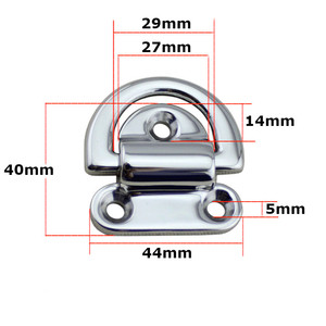 Image 2 - 6mm Folding Deck Pad Eyes lashing d ring Tie Down Point Anchor Fixing Cleat Plate Mirror Polish Marine Grade 316 Stainless Steel