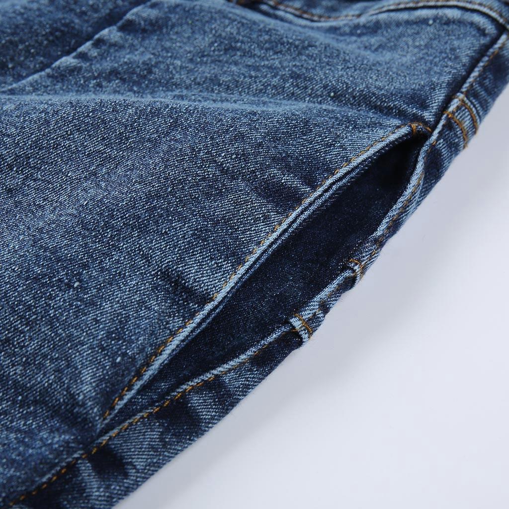 HTB18z7ESwHqK1RjSZFEq6AGMXXaQ modis Women Elastic Butto Tassel Loose  Denim Casual Small Feet  Slim Fit Jeans vaqueros mujer calca jeans feminina 2019#4