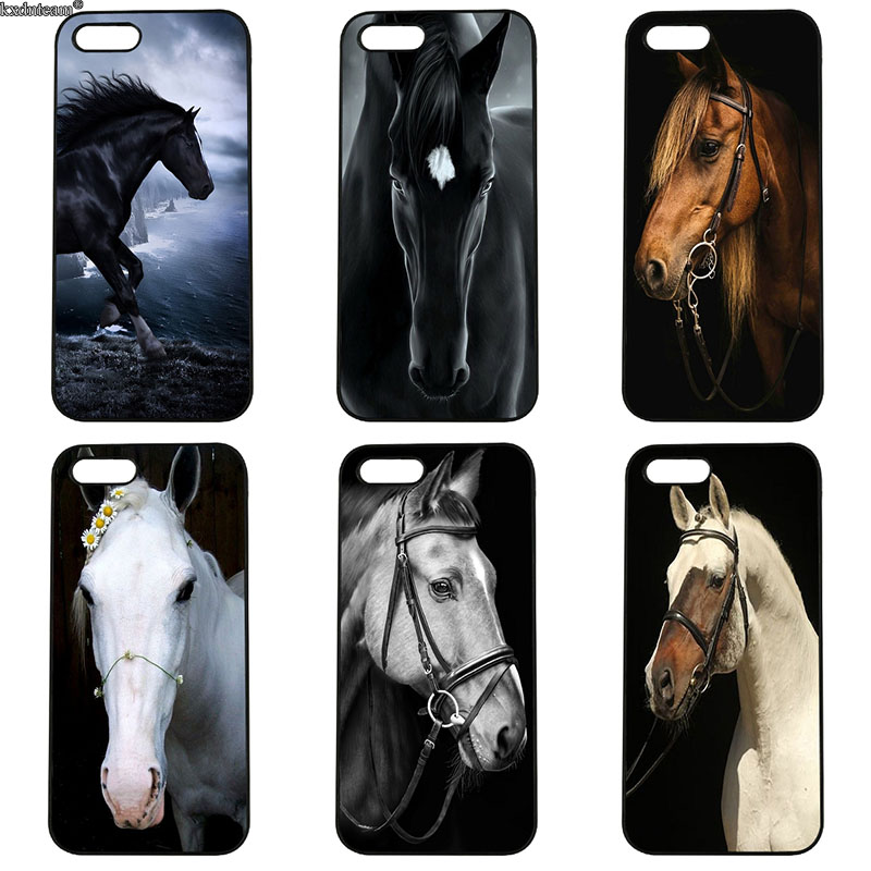 Amazing Horse Animal Print Phone Cases Hard PC Plastic Cover for iphone 8 7 6 6S Plus X 5S 5C 5 SE 4 4S iPod Touch 4 5 6 Shell