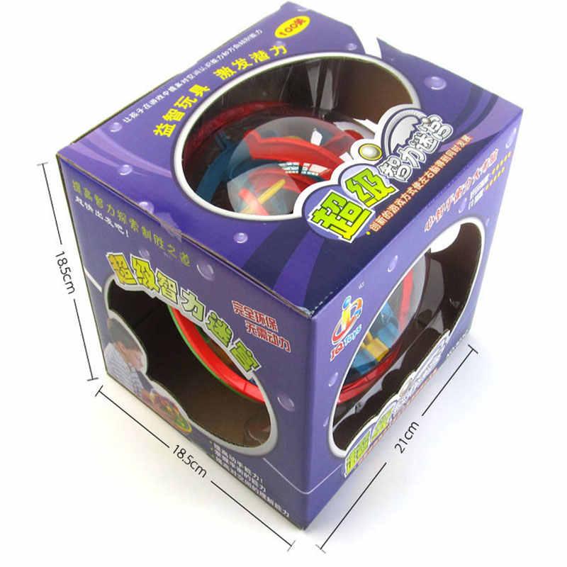 Большой 100 шагов 3D волшебный Интеллектуальный лабиринт, Шариковая дорожка, головоломка, игрушка Perplexus, Эпическая игра для детей и взрослых, магнитные шарики, игрушки для детей
