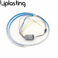 Liplasting Ice Blue Red Yellow White Multi Function RGB LED Strip Trunk Tail Light Brake Lamp