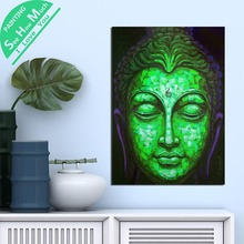 1 Шт. Квадрат Будда Зеленое Лицо HD Печатных Холст Wall Art Плакаты и Принты Плакат Живопись  Лучший!