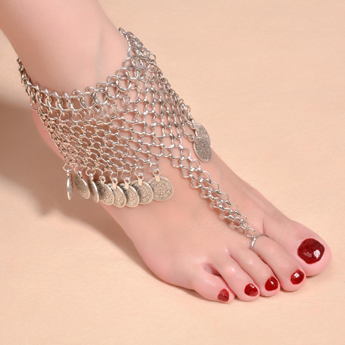 1ชิ้นBarefootรองเท้าแตะฤดูร้อนสไตล์โบฮี