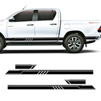 free shipping 4 PC side door racing quadrilateral stripe graphic Vinyl sticker for Ford ranger 2012 2017 accessories decals