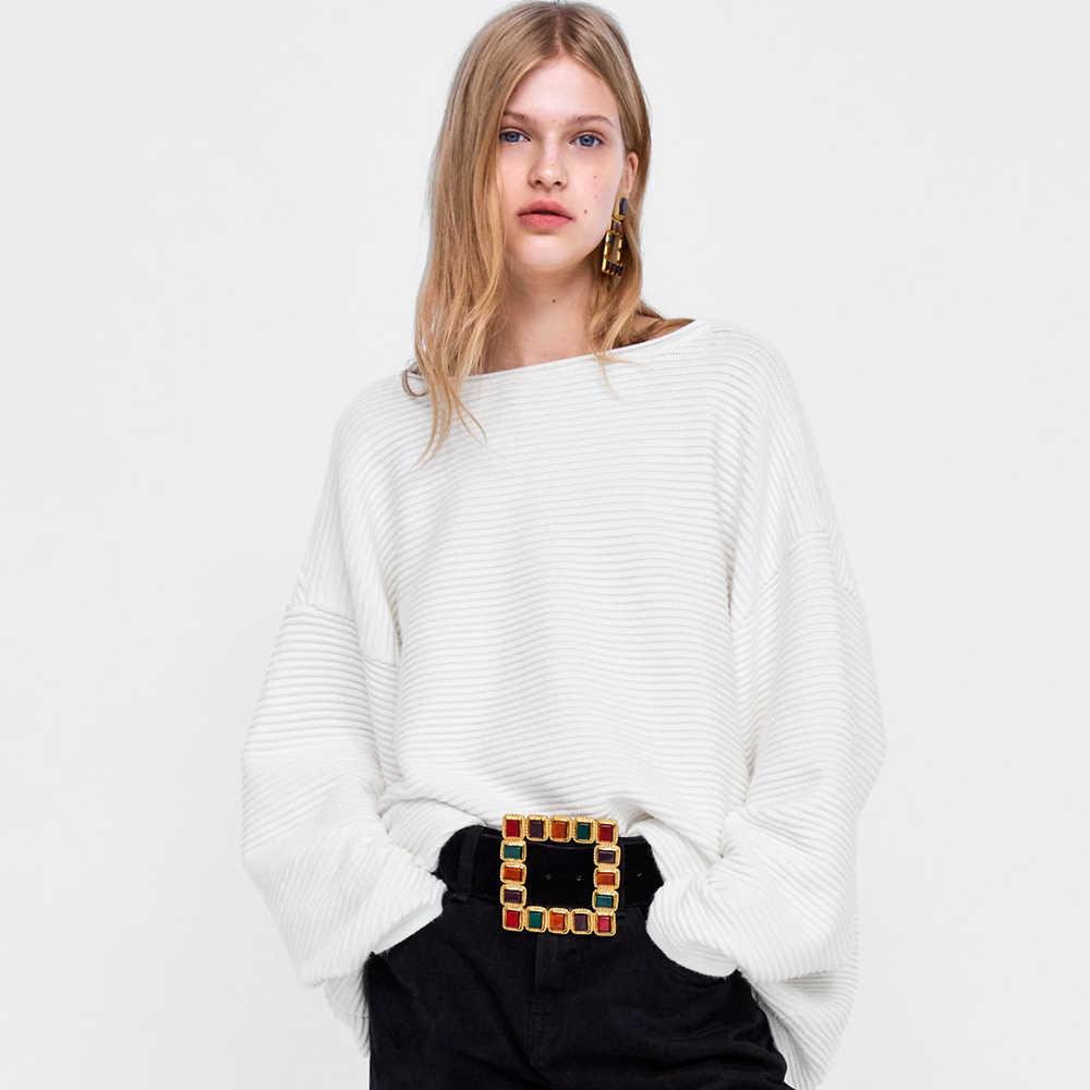 Girlgo Trendy ZA renkli kristal kare kemerler kadınlar için Bohemia Maxi kalp bildirimi kemerler göbek zincirleri lüks yuvarlak mücevher