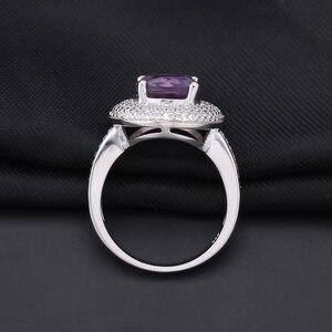 Image 3 - Gem ballet s ballet 2.66ct natural ametista anel de pedra preciosa 925 prata esterlina noivado cocktail anéis para mulheres jóias finas