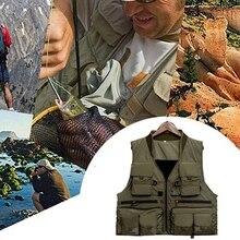 Корейский жилет для рыбной ловли, Быстросохнущий жилет для рыбной ловли из дышащего материала, куртка для рыбной ловли из полиэфирного волокна, жилет для фотосъемки