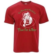 921faf25 Witz Weihnachten T Hemd Die Meisten Wunderbare Zeit Für EIN Bier Santa  Lustige Weihnachten(China