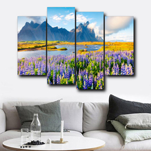 Laeacco Canvas Painting Calligraphy Flower Garden Posters and Prints Wall Art Picture Living Room Nordic Home Decoration стоимость