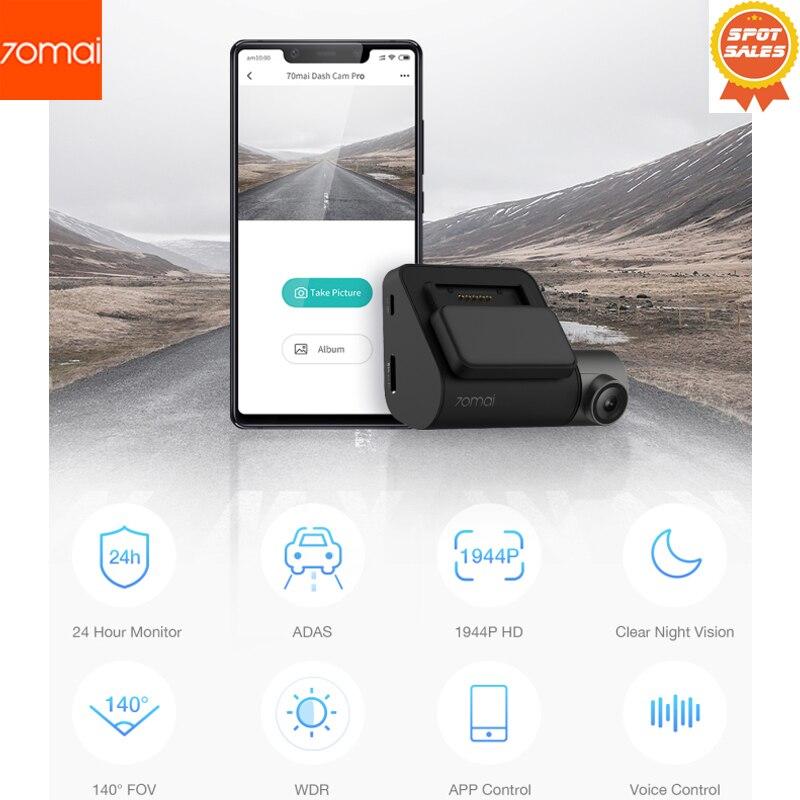 70mai Traço Cam Pro smart Car 1944P HD Gravação De Vídeo Com a Função WI-FI monitor de Câmera de Visão Traseira de Estacionamento de veículos