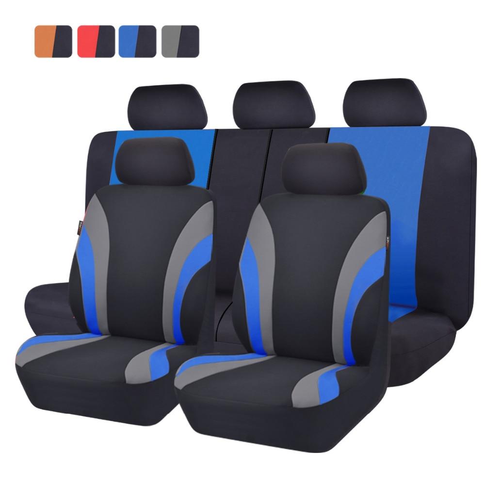 Car-pass Car Seat Covers Car Accessories Protector Sandwich Universal Car Seat Cover Set for renault logan peugeot 206 lada все цены