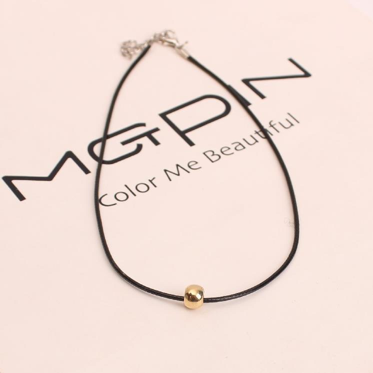 US $1 08 |New Fashion Jewelry Manufacturing Leather With Bead Simple Choker  Necklace Gift For Women Girl Accessories Wholesale HE 31-in Pendant