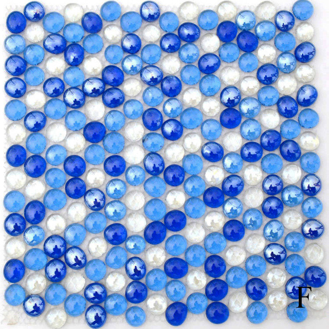 round glass mosaic tile kitchen backsplash bathroom wallpaper tiles ...