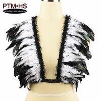 แต่งงานทาสไหล่ขนปีกสีขาวE Paulettesชุดชั้นในกรงVintagชาวเยอรมันขนอินทรธนูแองเจิลปีกBurningMan Steampunk