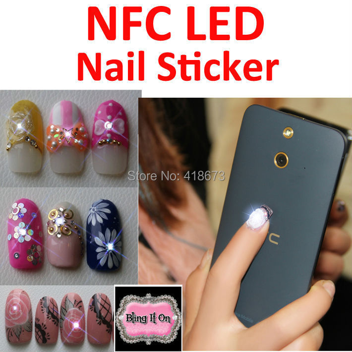 Wholesale 20 Pieces Fashion NFC Japan Design led Nail Sticker With ...