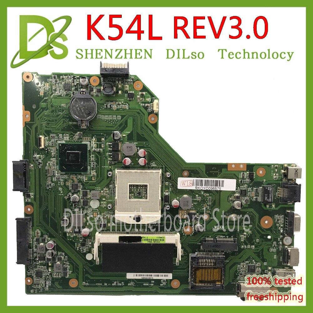 KEFU K54L Mainboard For ASUS X54C K54C K54L Laptop Motherboard Onboard  Test Work 100% Original Work Motherboard