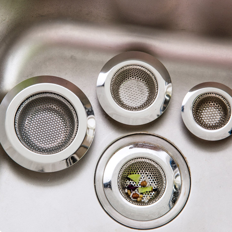 7cm fine mesh Stainless Hair Catcher Stopper Bathtub Shower Drain Hole Filter Sink Strainer