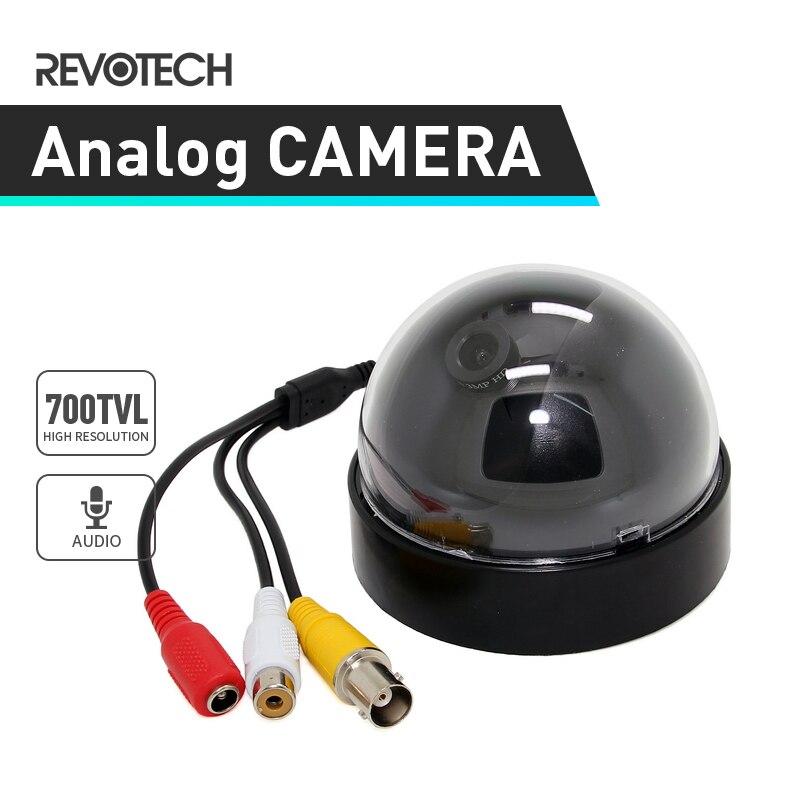 """imágenes para Audio 1/4 """"CMOS 700TVL CCTV Cámara de Interior, de Seguridad CCTV de Interior Cámara Domo Negro Leva Analógica"""
