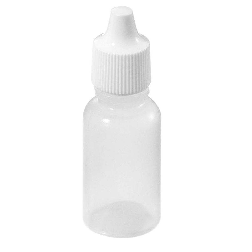 купить HTHL-100 Pcs Empty Eye Dropper Bottle Plastic Eye Liquid Screw Cap Lids 5ml недорого
