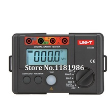 UNI-T UT521 LCD Digital Earth Ground Resistance Voltage Meter Double Insulation Protection Tester Megger 0-200V 0-2000 ohm uni t ut521 digital earth resistance tester with earth resistance testing range 0 2000 ohm