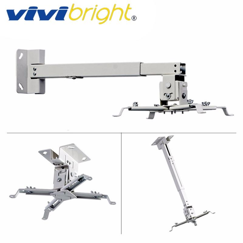 Support de projecteur réglable VIVIBRIGHT, chargement 5 KG. Support tenture murale, Support plafond. Support de projecteur