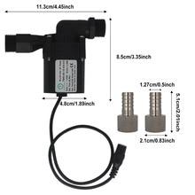 12V DC 양조 펌프 내구성 Homebrew 맥주 순환 커넥터와 브러시 펌프 워터 펌프 홈 브루어 맥주 펌프