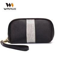 Wmnuo Women Shell Small Bag Cow Leather Lady Clutch Bag Handbags Female Evening Bag Fashion Women Wallet Coin Purse Phone Bag