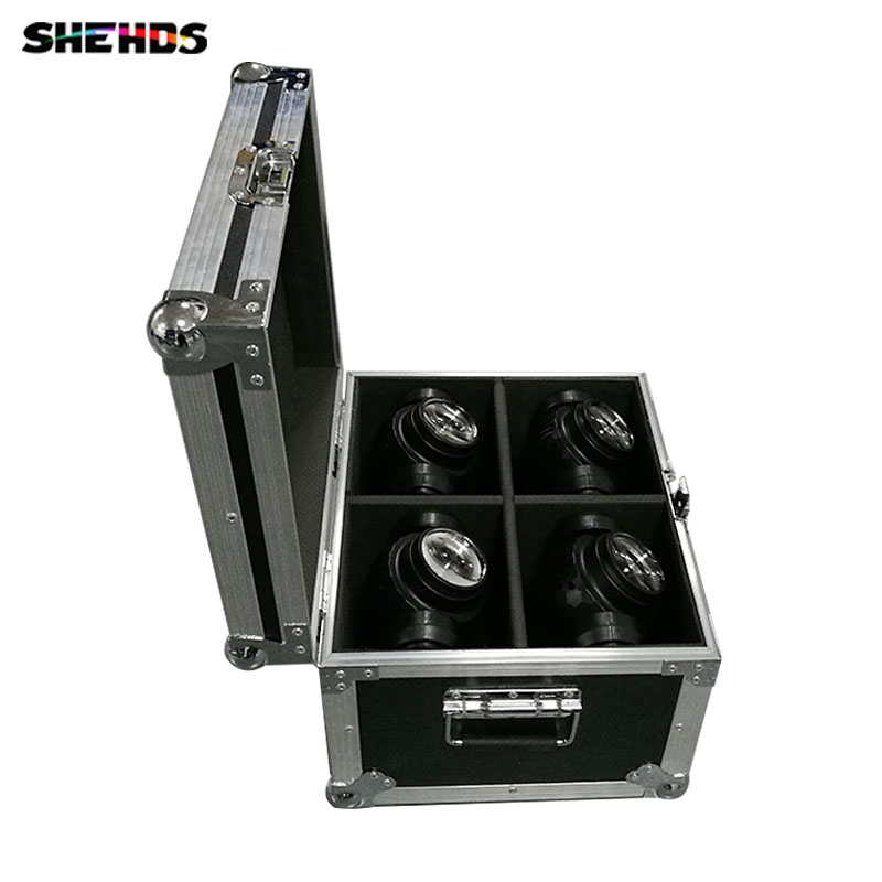 Flight Case with 2/4 pieces LED Beam+Wash Double Sides  4 x10W + 1 x10W Lighting for Disco KTV Party Fast Shipping,SHEHDS кейс для светового оборудования thon case for 3u lighting desks